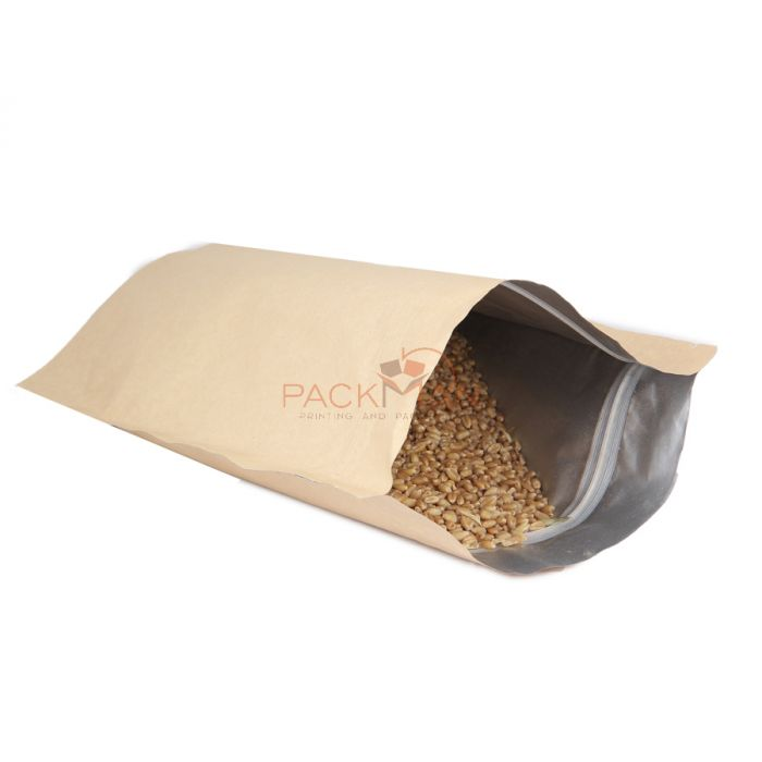 Packman Both Side Kraft Finish Stand Up Pouches