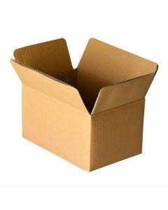3 Ply Brown Corrugated Boxes Size 7.00 X 5.00 X 4.25 Inches - Cardboard Carton Box