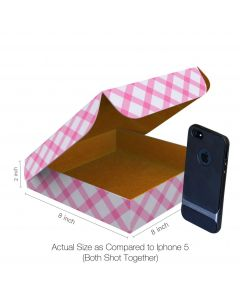 Buy Pizza Box Size 8x8x2 Inches - 3 Ply Corrugated Box
